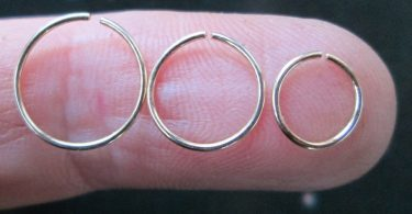 Small Thin Gold Hoop Small Gold Cartilage Hoop 22 Gauge Gold