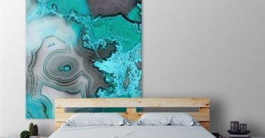 Turquoise Giant Canvas Print