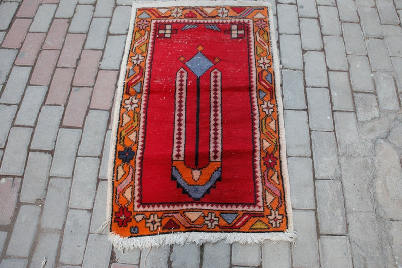 Vintage Small Rug Anatolian Prayer Rugs