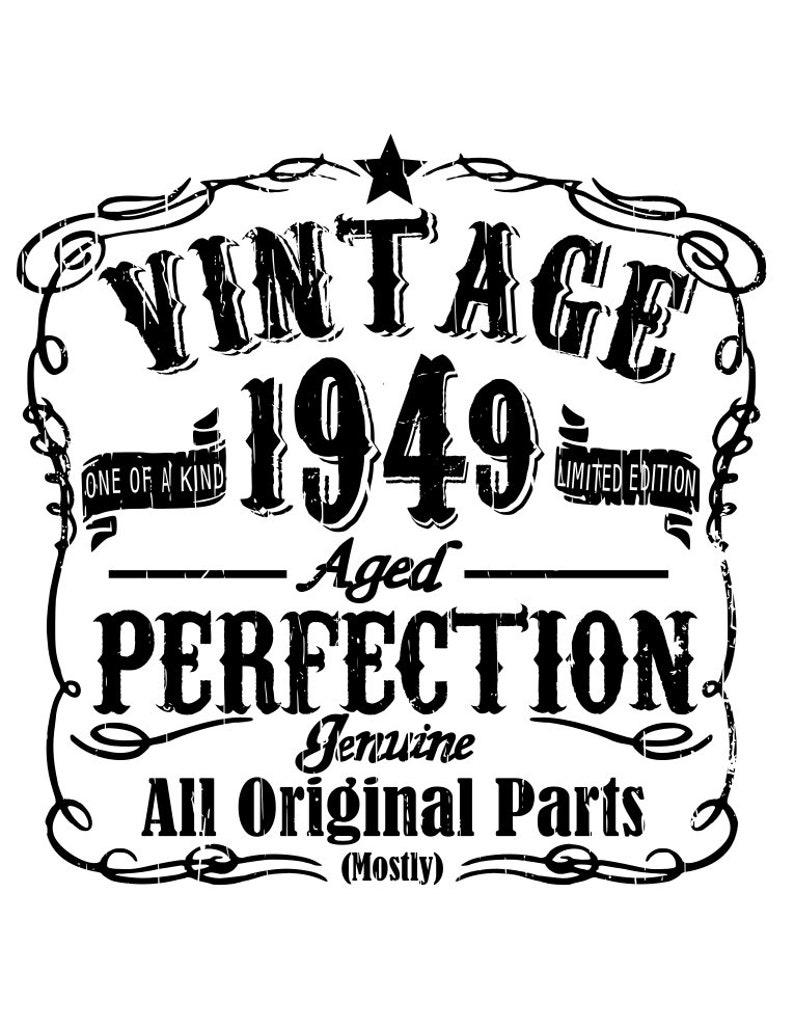 Vintage birthday  1940 41 42 43 44 45 46 47 48 & 49