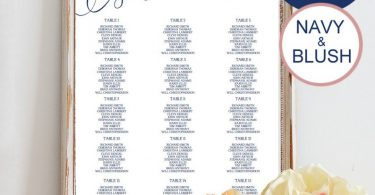 Wedding Seating Chart Template 6 sizes Party Seating Chart