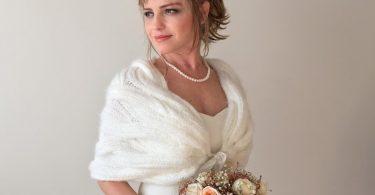 Wedding Shawl Winter wedding shawl Bridal bolero Bridesmaid