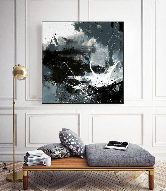 """clats"" Art Block Framed Canvas  by Giant Art"